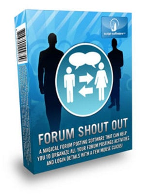 Product picture Forum Shout Out -Great Forrum MarketingSoftwear